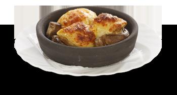 Грибы с сыром на кеци